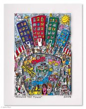 James Rizzi, drucksignierte 3D-Konstruktion