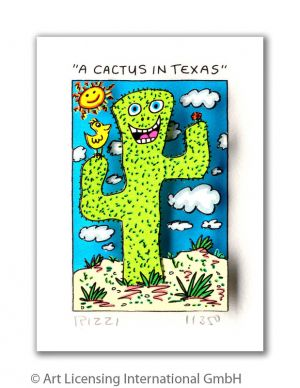 James Rizzi 3D-Grafik - A cactus in Texas